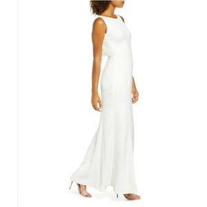Chi Chi London Draped Neck Sleeveless Nora Gown 8